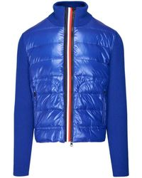 Moncler Blue Knit Wool Padded Cardigan, Brand