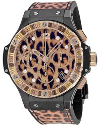 Hublot Big Bang Chronograph Leopard Dial Unisex Watch - Pink