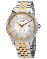 Victorinox Alliance Gray Dial Two-tone Mens Watch - Metallic