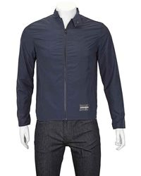 Calvin Klein Mens Navy Lightweight Biker Jacket - Blue