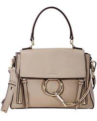 Chloé Small Faye Crossbody Bag- Motty Grey