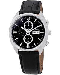 Bulova Classic Chronograph Black Dial Mens Watch