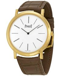 Piaget - Altiplano Mechanical White Dial Mens Watch - Lyst