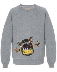 Burberry Pale Gray Melange Sweatshirt