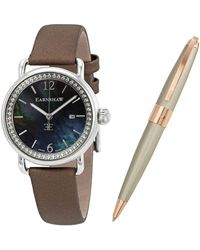 Thomas Earnshaw Invtigator Pearl Dial Ladi Watch -0022-seta-01 - Metallic