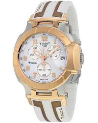 Tissot T-race Chronograph White Dial Mens Watch T0484172701200 - Metallic