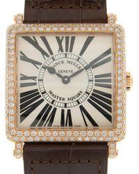 Franck Muller Master Square White Dial Unisex Watch 6002mbqzrd(5n) - Metallic