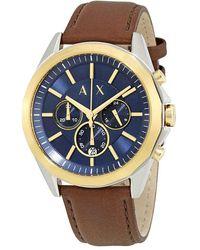 Armani Exchange Drexler Chronograph Blue Dial Mens Watch - Multicolour