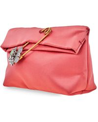 Burberry - The Small Pin Clutch In Satin - Lyst