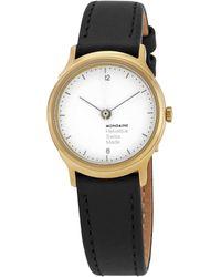 Mondaine Helvetica No1 Light White Dial Watch