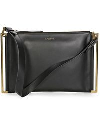 Lanvin Open Box - Zeeta Clutch Bag - Black