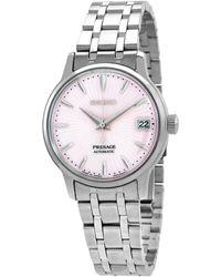 Seiko Presage Automatic Pink Dial Ladies Watch - Metallic