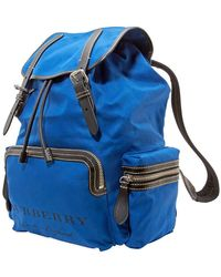 Burberry Leather Strap Rucksack - Blue