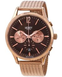 Henry London Harrow Chronograph Brown Dial Mens Watch -cm-0056 - Multicolor