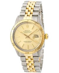Rolex Pre-owned Datejust Gold Tone Dial Mens Watch - Metallic