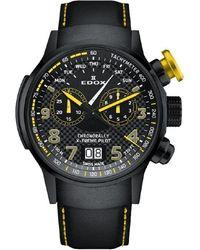 Edox Chronograph Quartz Black Dial Watch  Tinnj Nj3