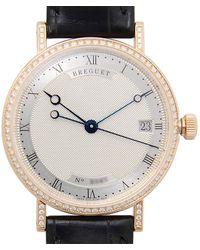 Breguet Classique Automatic 18kt Rose Gold Diamond Ladies Watch - Metallic