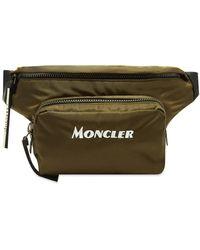 Moncler Nylon Drill Durance Belt Bag In Military Green