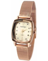 Ellen Tracy Quartz Rose Dial Watch - Multicolor