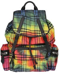 Burberry Tie-dye Vintage Check Rucksack - Multicolor