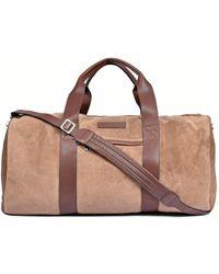 Brunello Cucinelli Suede Travel Duffel Bag - Brown