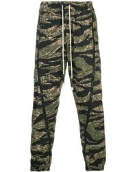 Mostly Heard Rarely Seen Mens Zipped Down Camouflage Joggers, Brand - Green