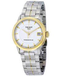 Tissot Luxury Automatic Ivory Dial Ladies Watch - Metallic