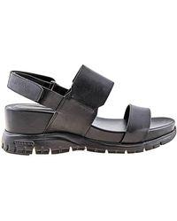 Cole Haan Ladies Zerogrand Wedge Sandal - Black