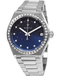 Zenith Defy Midnight Automatic Diamond Ladies Watch - Multicolour