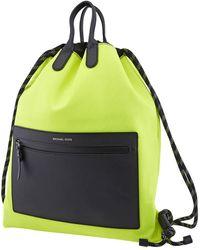 Michael Kors Brooklyn Nylon Drawstring Neon Backpack - Yellow