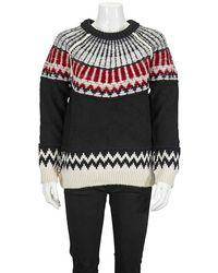 Burberry Fair Isle Wool Cashmere Sweater - Black