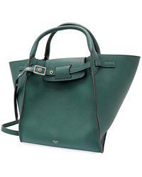 Céline Dark Green Top Handle Bag
