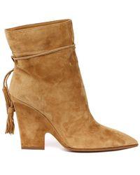 Aquazzura Ladies Beige Boots, Brand - Natural