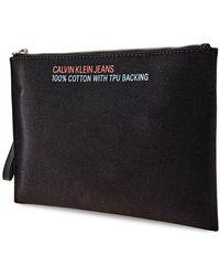 Calvin Klein Mens Medium Pouch - Black