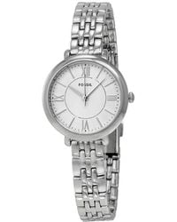 Fossil Jacqueline Silver Dial Stainless Steel Ladies Watch - Metallic