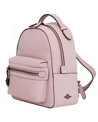 COACH - Ladies Pebble Leather Campus Backpack 23 In Pink - Lyst
