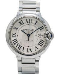 Cartier Pre-owned Ballon Bleu Silver-tone Dial Mens Watch  W69012z4 - Metallic