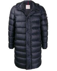 Moncler Mens Blue Longline Puffer Jacket, Brand