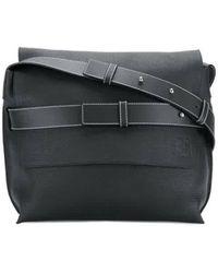 Loewe Messenger Strap Bag In Black