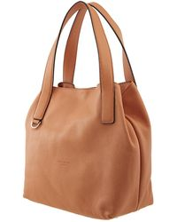 Coccinelle Ladies  Leather Shopping Bag - Orange