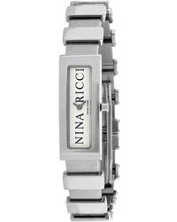 Nina Ricci Classic Silver-tone Dial Ladies Watch - Metallic