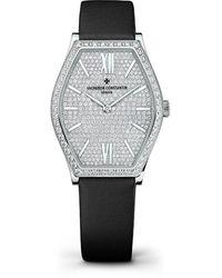 Vacheron Constantin Malte Small Model Diamond Pave Dial Ladies Watch -9895 - Metallic