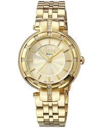 Ferrè Milano Gold Dial Ladies Watch - Metallic