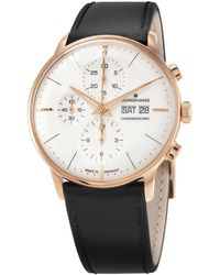 Junghans Chronograph Automatic Silver Dial Mens Watch - Metallic