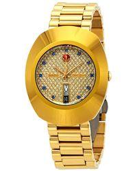 Rado Original Yellow Gold-tone Mens Watch - Metallic
