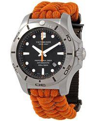 Victorinox I.n.o.x. Professional Diver Quartz Black Dial Mens Watch