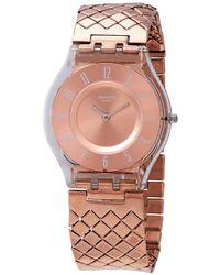 Swatch Pink Cushion Pink Dial Ladies Watch