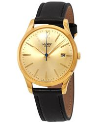 Henry London Westminster Gold Dial Watch -s-0006 - Metallic