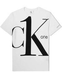 Calvin Klein Ck1 Bold Logo T-shirt, Brand - White