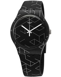 Swatch - Cnosso Quartz Black Dial Unisex Watch - Lyst